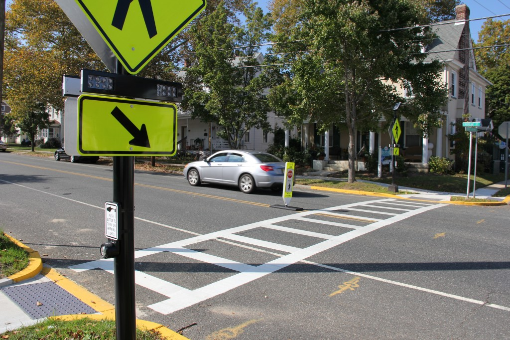 New Crosswalks and Pedestrian Safety Features   Swedesboro