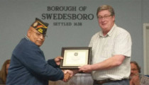Local VFW Post Presents Certificate of Appreciation to Mayor Fromm
