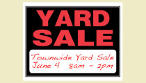 Town-wide Yard Sale: June 4th